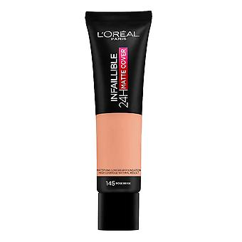 L'Oreal Infallible 24H Foundation Matte Cover 30ml Rose Beige #145