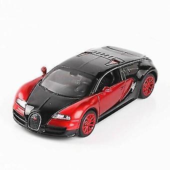 Toy cars 1:32 bugatti veyron diecast model car light sound red
