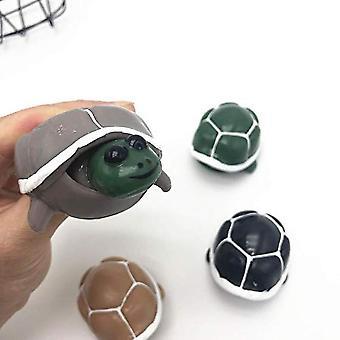 4-pack Tortoise Squeeze Toys Press Turtle Pop Out Head Fidget Toys