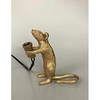 Lampe de table en résine postmoderne avec souris, petite mini souris, veilleuse led mignonne, décoration de la maison, lampe de table, lampe de chevet