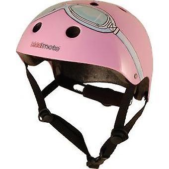 Kiddimoto Helmet - Pink Goggles