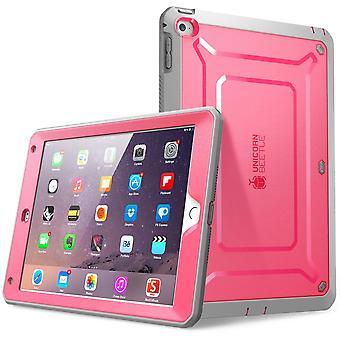 iPad Air 2 fall, SUPCASE, Unicorn Beetle Pro, Apple iPad Air 2 fall, skyddande fall-rosa/grå