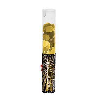 Confetti canhão 25 cm ouro decoração casamento festa Popper confete atirador