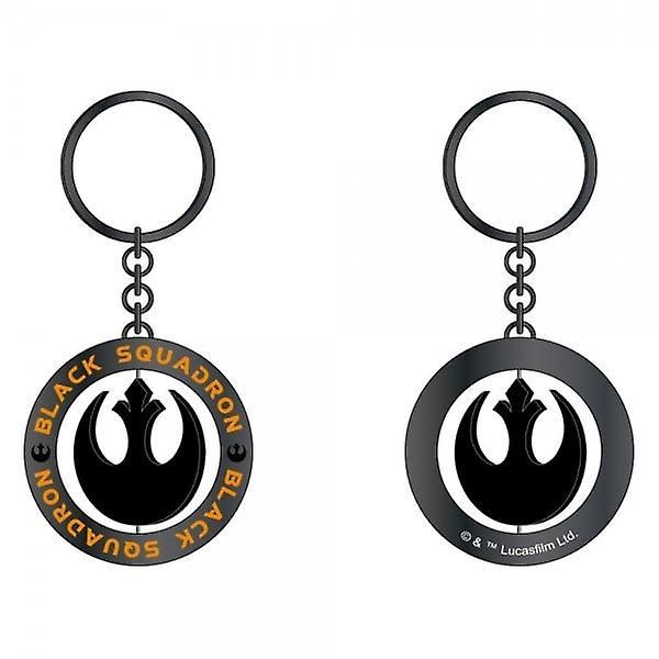 Star Wars Star Wars Rouge One Black Squadron Black/Gunmetal Spinner Keyring