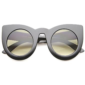 Womens Bold High Point Tinted Lens Oversize Cat Eye Sunglasses 48mm