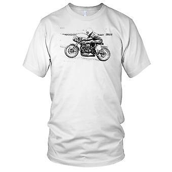 Motorcycle Motorbike Racer Vintage Retro Ladies T Shirt
