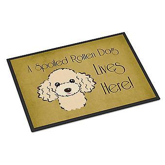 バフのプードルを台無しに犬の生命はここで屋内または屋外マット 24 × 36