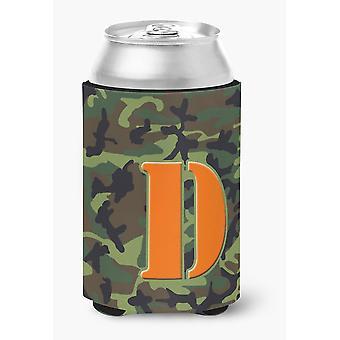 حرف D مونوغرام الأولية-الأخضر التمويه يمكن أو زجاجة من المشروبات عازل نعالها