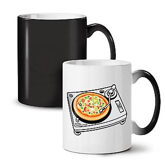 Pizza Dj Mix Music Food NEW Black Colour Changing Tea Coffee Ceramic Mug 11 oz | Wellcoda