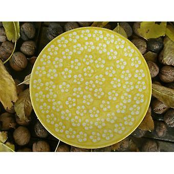 Desayuno placa, ø 22 cm, amarillo, Bolesławiec BSN m 4227