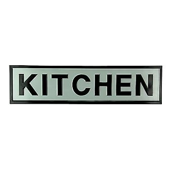 Black and White Stamped Metal Kitchen Wall Hanging