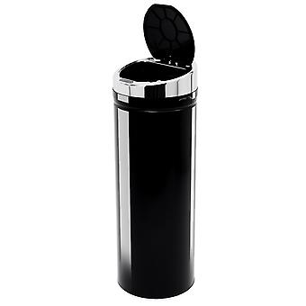 HOMCOM 50L LUXURY Automatic Sensor Dustbin Kitchen Waste Bin Rubbish Trashcan Auto Dustbin Stainless Steel with Bucket Black 30.5*30.5*86.5CM