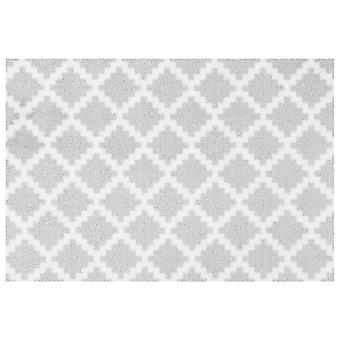 Washable mats elegance grey white