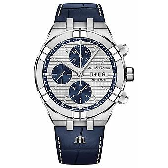 Maurice Lacroix Aikon Automatic Chronograph Blue Leather Strap AI6038-SS001-131-1 Watch