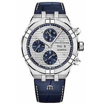 Maurice Lacroix Aikon chronographe automatique cuir bleu bracelet AI6038-SS001-131-1 montre