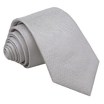 Silver Panama Silk Slim Tie