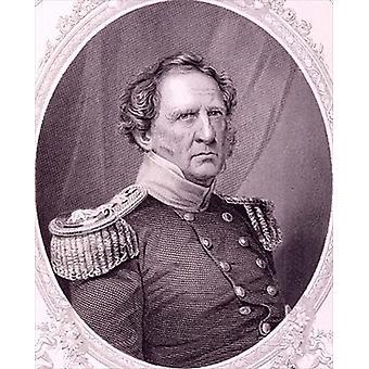 Winfield Scott (1786-1866) from 'The History.. - Art Print