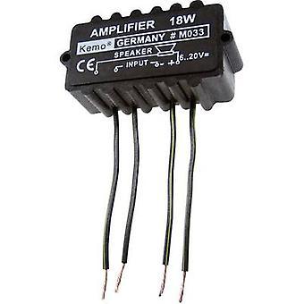 Kemo M033N mono amp-komponentti 9 V DC, 12 V DC, 18 V DC, 20 V DC 18 W 4 Ω