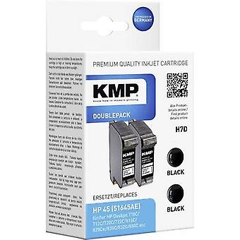 KMP Ink replaced HP 45 Compatible Pack of 2 Black H7D 0927,4021