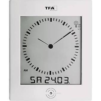TFA Dostmann 60.4506 Radio Wall clock 220 mm x 265 mm x 31 mm Silver