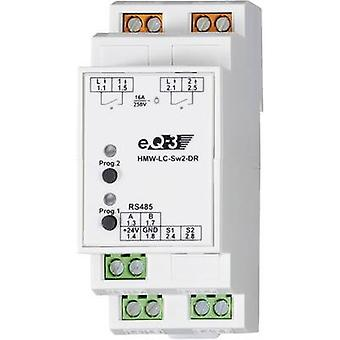 Homematic 76801 HMW-LC-Sw2-DR RS485 switching actuator 2-channel DIN rail 3680 W