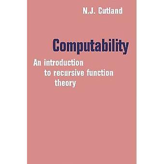 Computability by N. J. Cutland