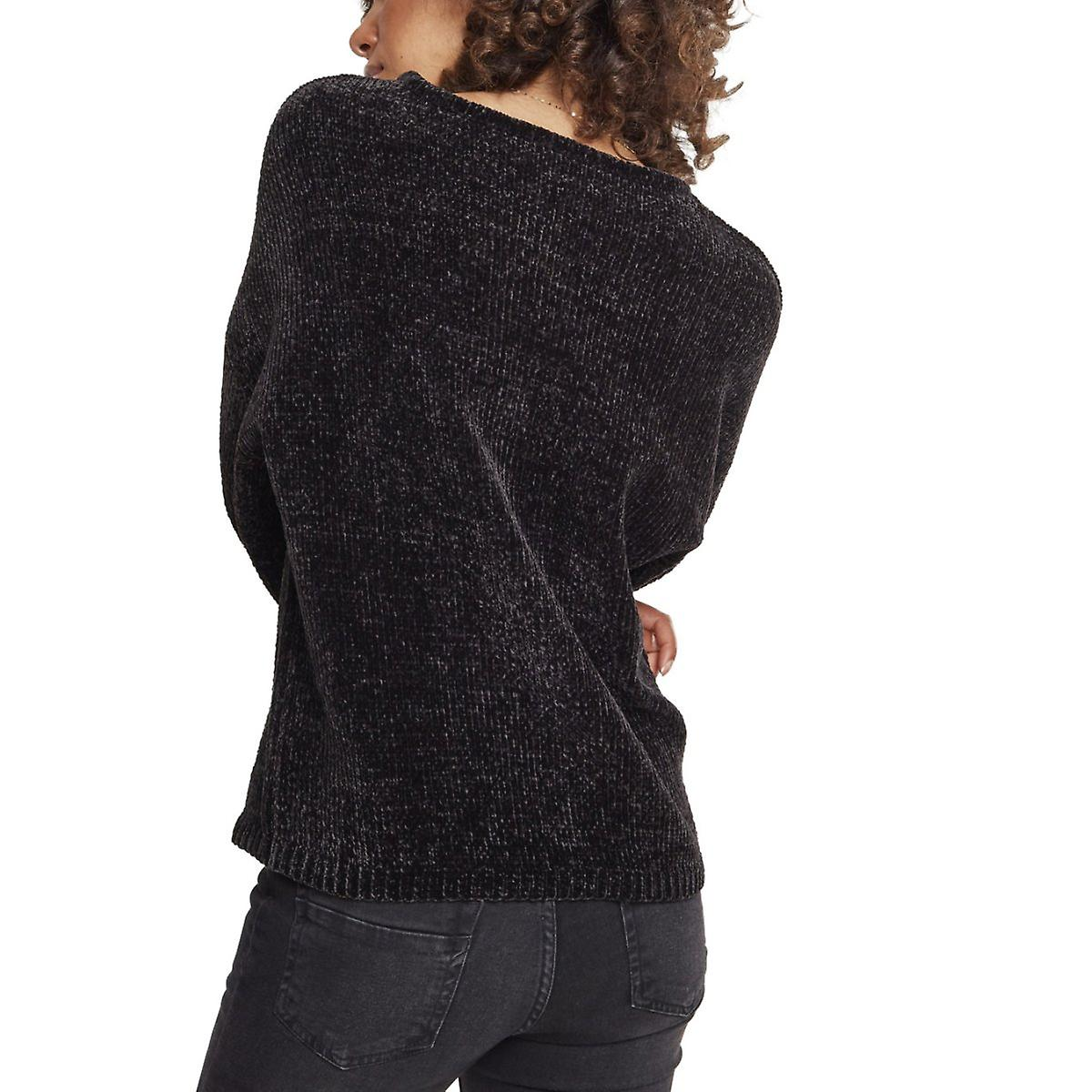 Urban classics damer oversize chenille tröja svart
