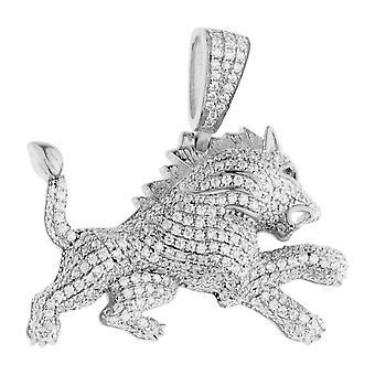 Prémio Bling - pingente de leão de prata esterlina 925