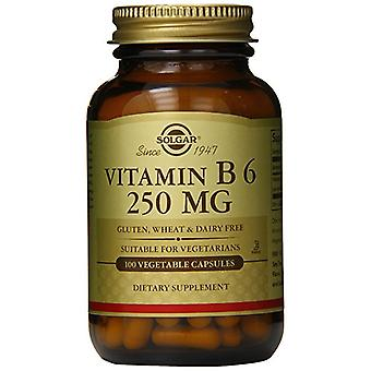Solgar Vitamin B6 250 mg Vegetable Capsules 100 Ct