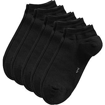 Esprit блок цветных тапки 5 Pack носки - черный