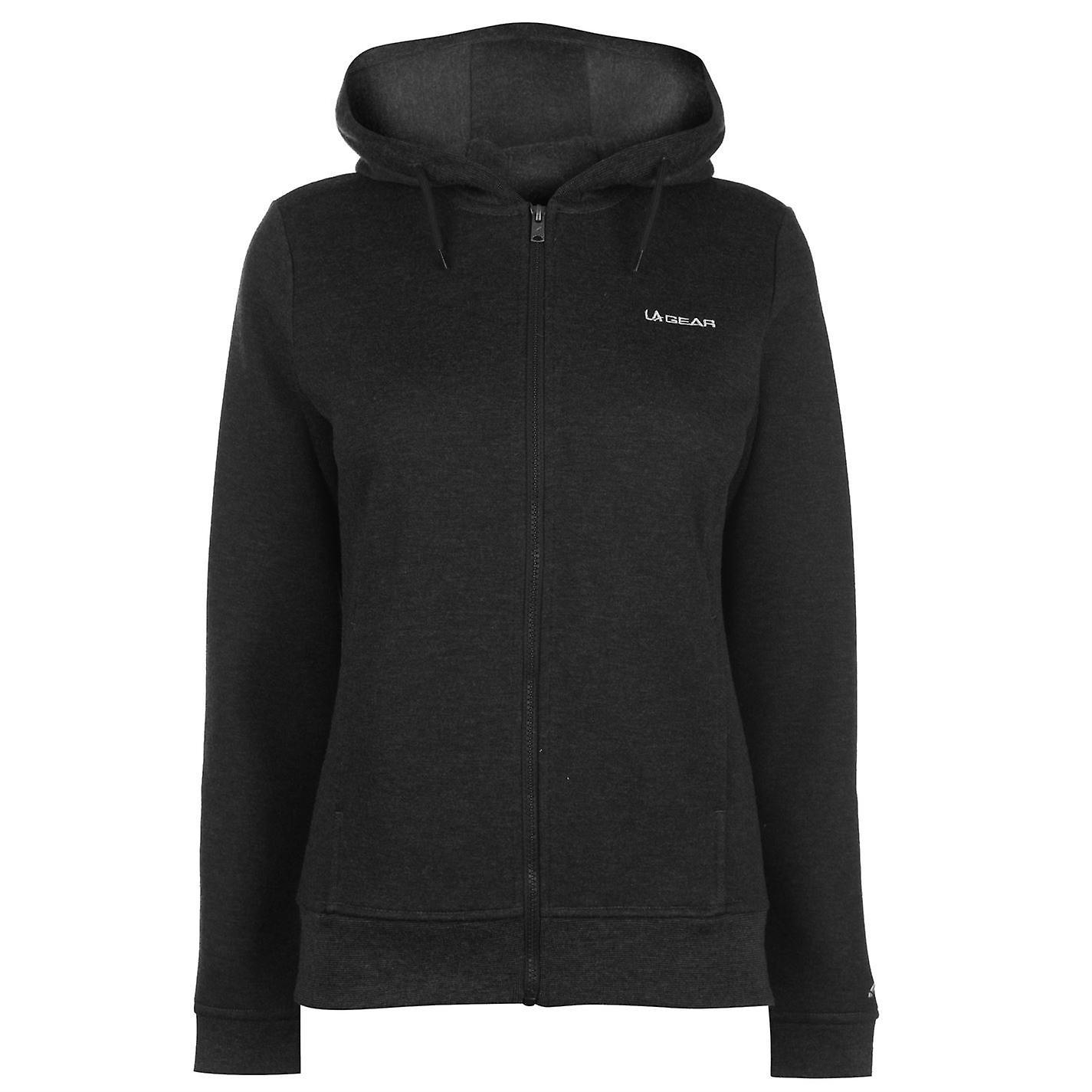 LA Gear Womens Full Zip Hoody Hoodie Hooded Top Long Sleeve Warm Drawstring