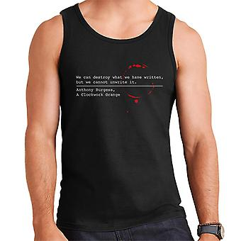Dystopian A Clockwork Orange Quote Men's Vest