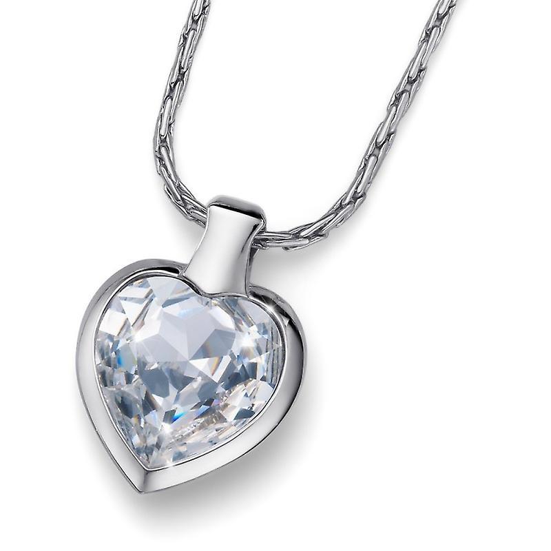 Oliver Weber Pendant Heart Rhodium Crystal