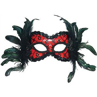 Punainen/musta maski + H'Band höyheniä.