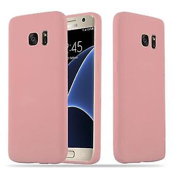 Cadorabo tilfelle for Samsung Galaxy S7 tilfelle deksel - Fleksibel TPU silikon telefonveske - silikon etui beskyttende etui ultra slank myk bakdeksel tilfelle støtfanger