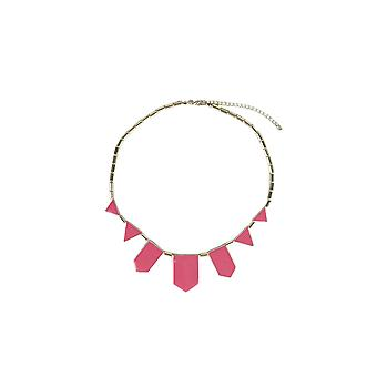 Lovemystyle Gold Necklace With Pink Shape Detail
