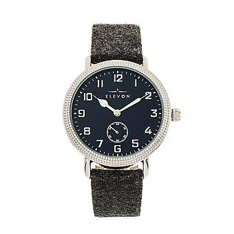 Elevon Northrop Wool-Overlaid Leather-Band Watch - Charcoal/Navy