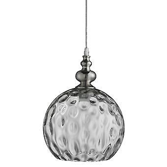 Indiana satyna srebrny glob wisząca z przezroczystego szkła - Searchlight 2020 CL