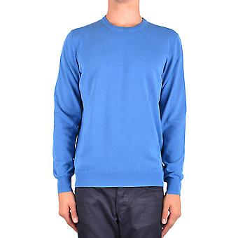 Fay Ezbc035015 Men's Light Blue Cotton Sweater
