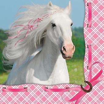 White horse napkins 33 x 33 cm 16 count children birthday theme party party birthday