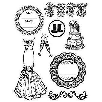 Stamperia Natural Rubber Stamp Wedding