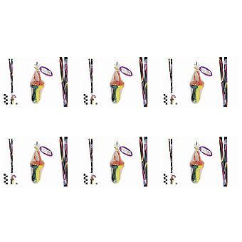 Förpackning med 6 Rock Dummies med bubblor kopplings linor