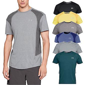 Under Armour Mens Executar Gráfico SS Umidade Wicking Treinamento T-Shirt Top
