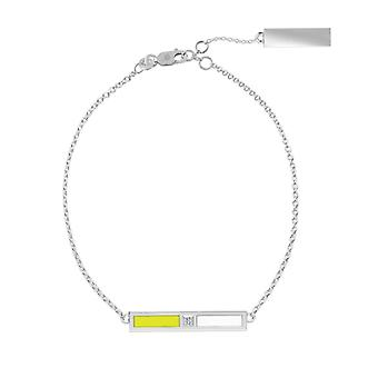 Simon Pagenaud Sterling Silver Diamond Bar Chain Bracelet In Yellow & White