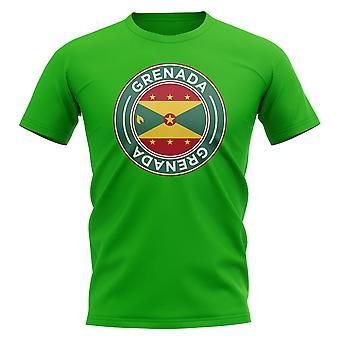 Grenada Football Badge T-Shirt (Green)