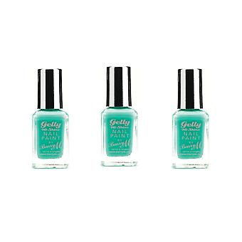 Barry M 3 X Barry M Gelly Hi Shine Nail Paint - Green Berry