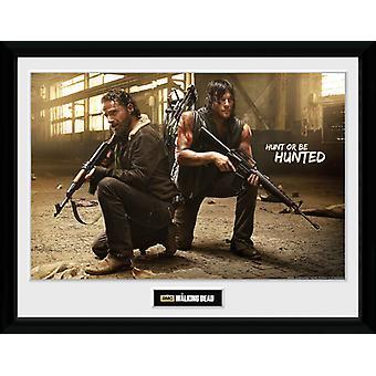 Die Toten Rick Wandern und Daryl Hunt gerahmt Collector Print 40x30cm