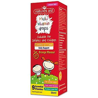 Nature's Aid Multi-vitamin Mini Drops for infants & children 50ml (136210)