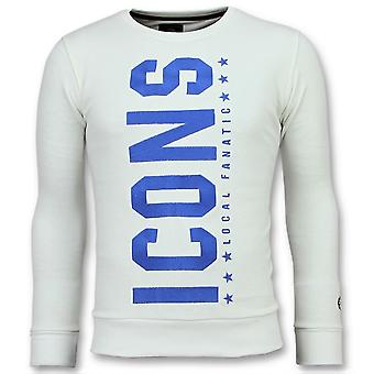 ICONS  Vertical - Coole Sweater - 6353W - Wit