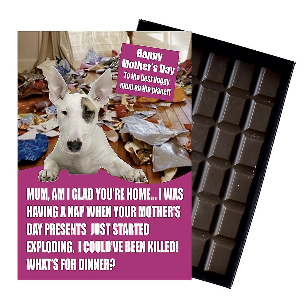 Bull Terrier Owner Dog Lover Mother?s Day Gift Chocolate Present For Mum